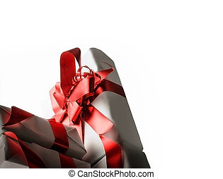 stylish gift boxes. isolated on a white background.