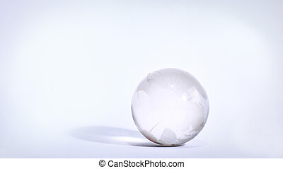 stylish glass globe. isolated on a white background