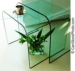 Stylish glass tables