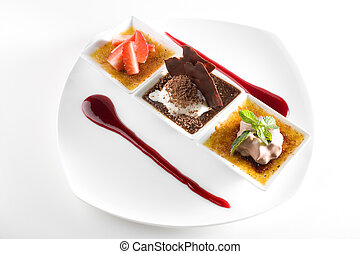 Stylish gourmet dessert