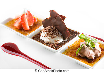 Stylish gourmet dessert