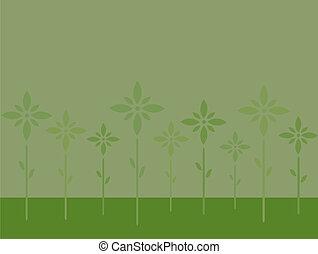 Stylish green flowers