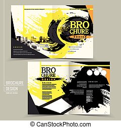 stylish half-fold brochure design