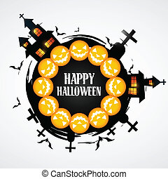 stylish halloween vector design