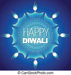 stylish happy diwali vector background