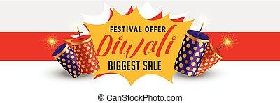 stylish happy diwali sale banner design
