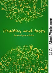 Stylish Healthy Eating concept vert