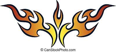 Stylish Hot Rod Flames