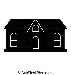 Stylish house icon, simple style