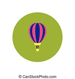 stylish icon in color circle air balloon