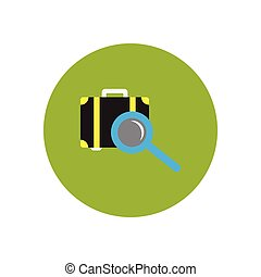 stylish icon in color circle baggage Scanner