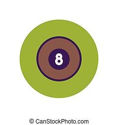 stylish icon in color circle billiard ball