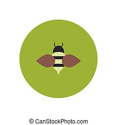 stylish icon in color circle Honey bee