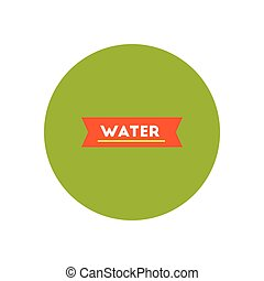 stylish icon in color circle water text