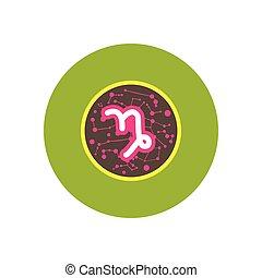 stylish icon in color circle Zodiac signs Capricorn