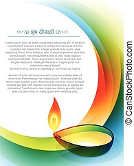 stylish indian diwali festival design with space for your text