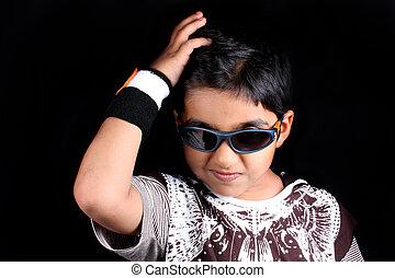 Stylish Indian Kid - A portrait of a stylish Indian kid...