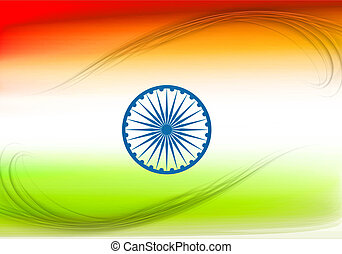 stylish indian vector flag colorful design vector illustration