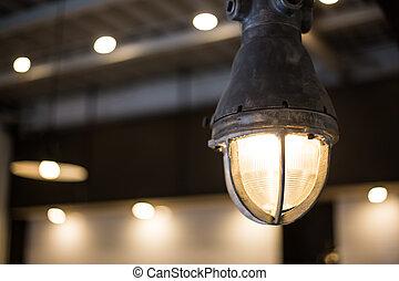 Stylish interior industrial lamp