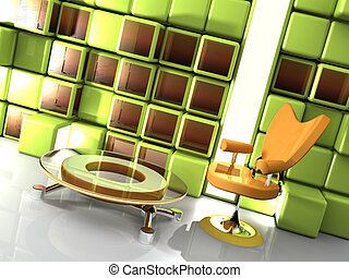 Stylish Interior - Computer generated image - Stylish...
