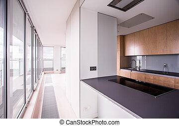 Stylish kitchen in modern house