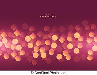 stylish lights bokeh premium background