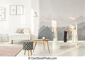 Stylish little girl's bedroom