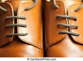 Stylish male shoes - Vintage men's leather shoes. Stylish...