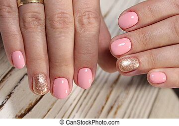 stylish manicure with a design