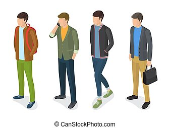 Stylish Men Models in Fashionable Apparels Jackets