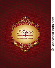Stylish menu design background with a decorative label