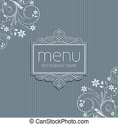 Stylish menu design - Stylish menu background with a floral...