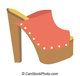 Stylish mule with heavy platform and high heel - Stylish...