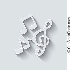 Stylish Music Icons with Long Shadows