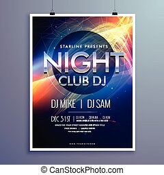 stylish night club music party flyer template design