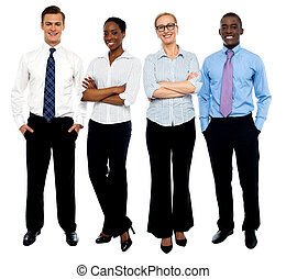 Stylish portrait of four business people