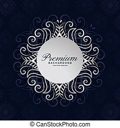 stylish premium mandala frame floral background design