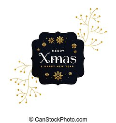 stylish premium merry christmas greeting vector design with decoration