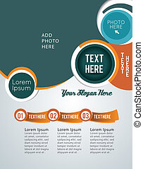 Stylish presentation of business poster, magazine cover,...