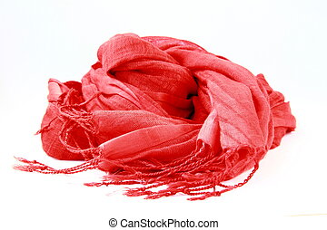 stylish red female scarf