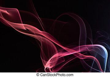 stylish red swirl