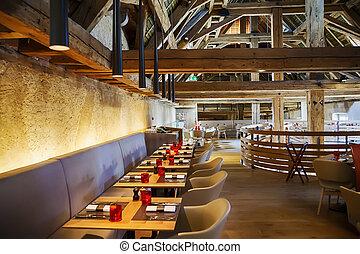 stylish restaurant