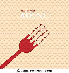 Stylish restaurant menu card