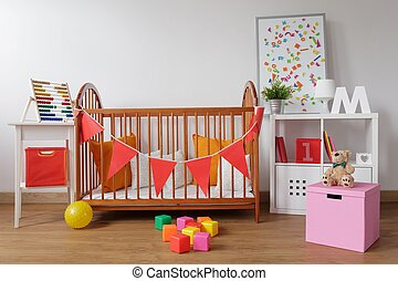 Stylish room for babygirl - Photo of stylish room for...
