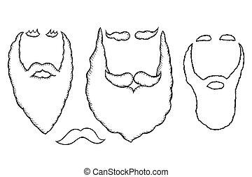 Stylish Santa beards.