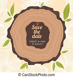 Stylish Save the Date card in pastel colors.Vector romantic wallpaper - ideal for wedding designs. Vintage wedding background in vector