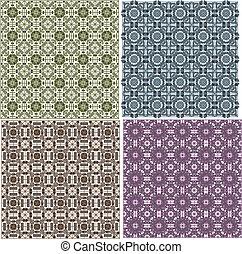 stylish seamless geometrical backgrounds pattern set