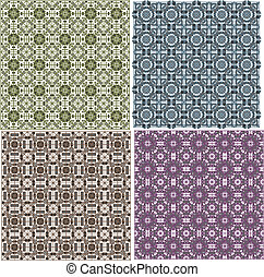 stylish seamless geometrical backgrounds pattern set