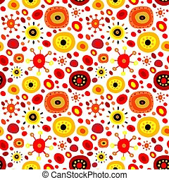 Stylish seamless pattern with abstract decorative elements