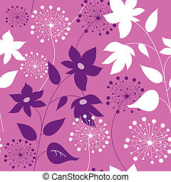 Stylish seamless pattern with flowers